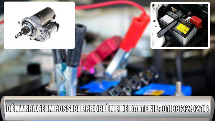 depannage batterie ou demarreur