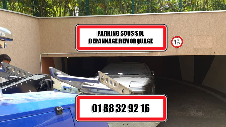 remorquage parking sous sol